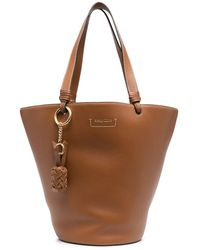 See By Chloé Ceciya Leather Satchel Bag - Brown