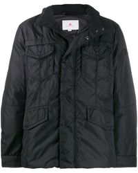 Peuterey Field Jacket In Technical Oxford Fabric - Black