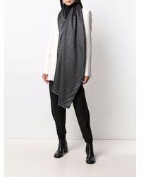 Givenchy Large 4g Silk-blend Scarf - Grey