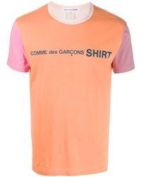 Comme des Garçons Logo Print T-shirt - Orange