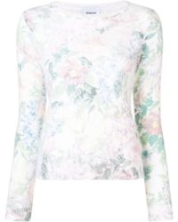 Dondup - Floral Print Tee - Lyst