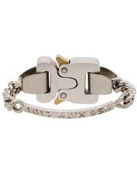 1017 ALYX 9SM - Silver-tone Logo-engraved Bracelet - Lyst