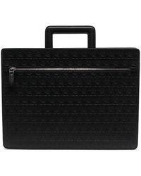 Ferragamo Gancini-embossed Laptop Bag - Black