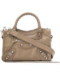 Balenciaga Mini City Bag - Gray
