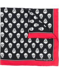 Alexander McQueen Silk Biker Skull Scarf - Black