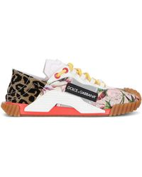 Dolce & Gabbana Patchwork Low-top Trainers - White