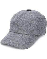 Brunello Cucinelli Wool Baseball Cap - Grey