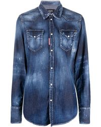 DSquared² - Denim Cotton Shirt - Lyst