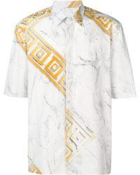 Versace - Camicia In Cotone Con Stampa - Lyst