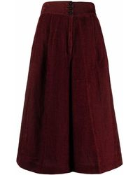 Forte Forte Corduroy High-waisted Shorts - Red