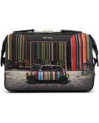 Paul Smith Car Stripe-print Wash Bag - Multicolor