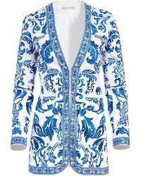 Alice + Olivia Chriselle Embroidered Jacket - White