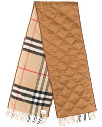 Burberry Sciarpa Giant Check In Cashmere - Multicolore