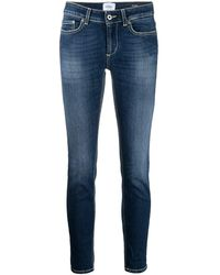 Dondup Low-rise Skinny-cut Organic Cotton Jeans - Blue
