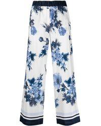 P.A.R.O.S.H. Pantaloni a fiori - Blu