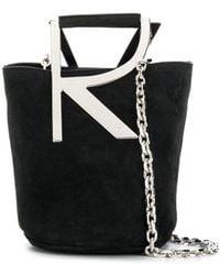 Roger Vivier Rv Mini Bag In Suede - Black