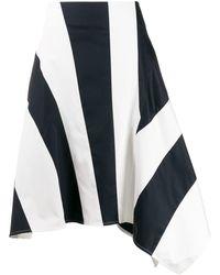 Eudon Choi Sammy Asymmetrical Skirt - Blue