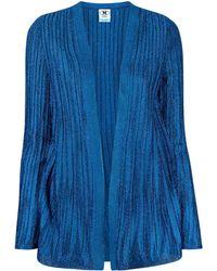 M Missoni Ribbed Cardigan - Blue