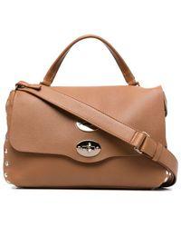 Zanellato Postina Leather Tote Bag - Brown