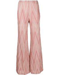 M Missoni Cotton Blend Trousers - Pink