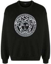 Versace Felpa Medusa con ricamo - Nero