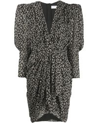 IRO Floral Print Asymmetric Dress - Black