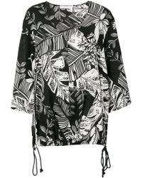 See By Chloé - Foliage Print Drawstring Top - Lyst