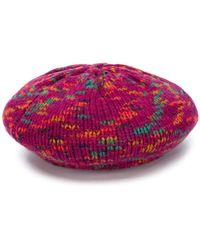 M Missoni Wool Beret - Purple