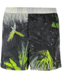 Valentino Mural Jungle Swimshorts - Black