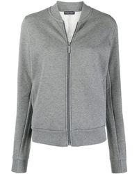 Emporio Armani Zip Sweatshirt - Grey