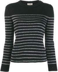 Saint Laurent Pullover a righe in cotone e lana - Multicolore