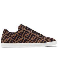 Fendi Sneakers low-top in maglia - Marrone