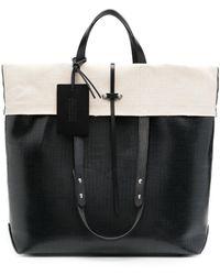 Maison Margiela Two-tone Tote Bag - Black