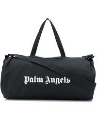 Palm Angels Borsone con stampa - Nero