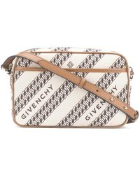 Givenchy Chain-print Bond Camera Bag - Brown