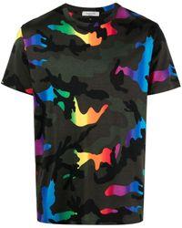 Valentino Camouflage-print Crew Neck T-shirt - Multicolor