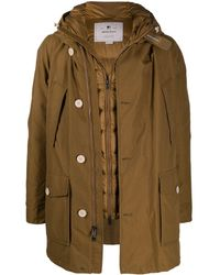 Woolrich Padded Long-sleeve Rain Coat - Brown