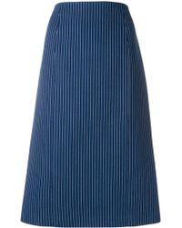 Fendi - Cotton-silk Striped Skirt - Lyst
