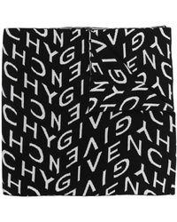 Givenchy Logo-intarsia Scarf - Black