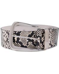 B-Low The Belt Cintura Jordana In Pelle - Bianco