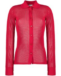 Bottega Veneta Mesh Sheer Shirt - Red