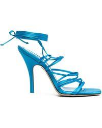 The Attico Sandals Clear Blue