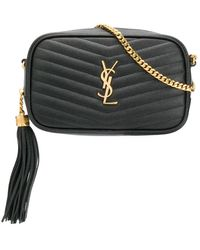 Saint Laurent Lou Crossbody Bag - Black