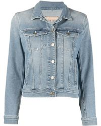 7 For All Mankind Fitted Denim Jacket - Blue