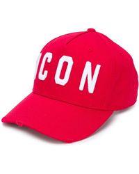 DSquared² Cappello Con Logo - Rosso