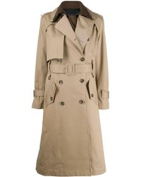 Eudon Choi Belted Two-tone Trench Coat - Natural