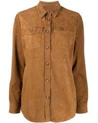 Stewart Suede Shirt Jacket - Brown