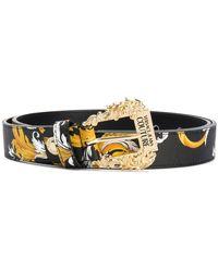 Versace Jeans Couture Baroque Print Belt - Black