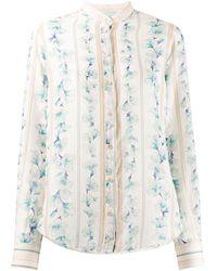 Forte Forte Floral Striped Print Shirt - Multicolor