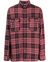 Destin Wester Wool Shirt - Red